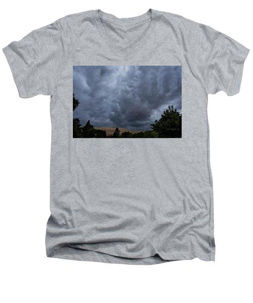 Dark Electric Men's V-Neck T-Shirt