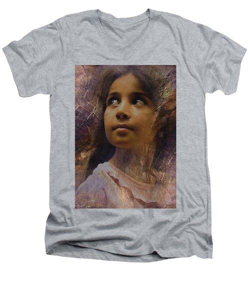 Dark Eyed Beauty Men's V-Neck T-Shirt