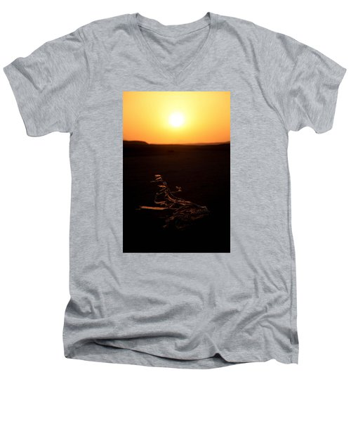 Men's V-Neck T-Shirt featuring the photograph dark in the U K by Jez C Self