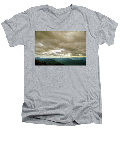 Dark Mountains Too Men's V-Neck T-Shirt
