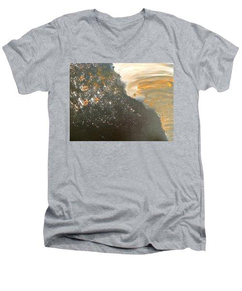 Dark Storm Men's V-Neck T-Shirt by Barbara Yearty