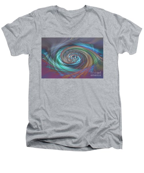 Dark Swirls Men's V-Neck T-Shirt