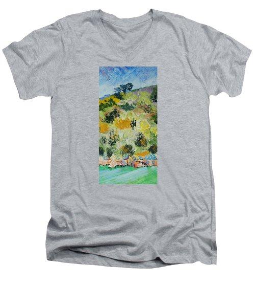 Dartmouth Cliffs Men's V-Neck T-Shirt