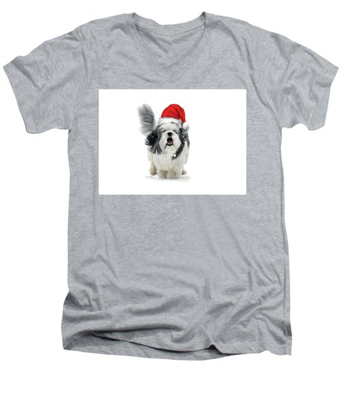 Dashing Through The Snow Men's V-Neck T-Shirt by Keith Armstrong