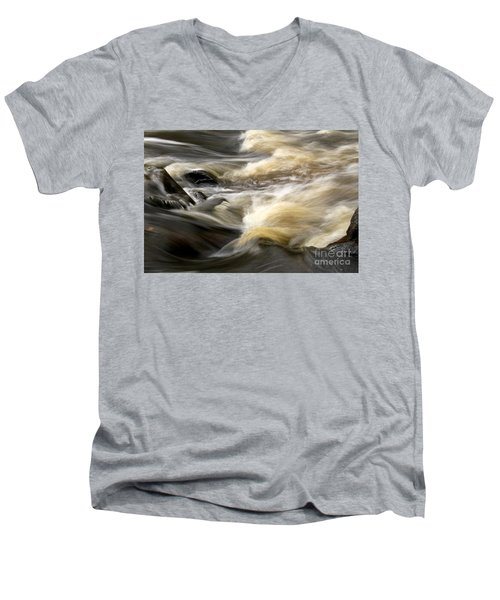Men's V-Neck T-Shirt featuring the photograph Dave's Falls #7431 by Mark J Seefeldt