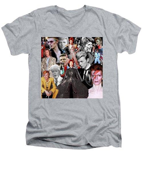 David Bowie 6 Men's V-Neck T-Shirt