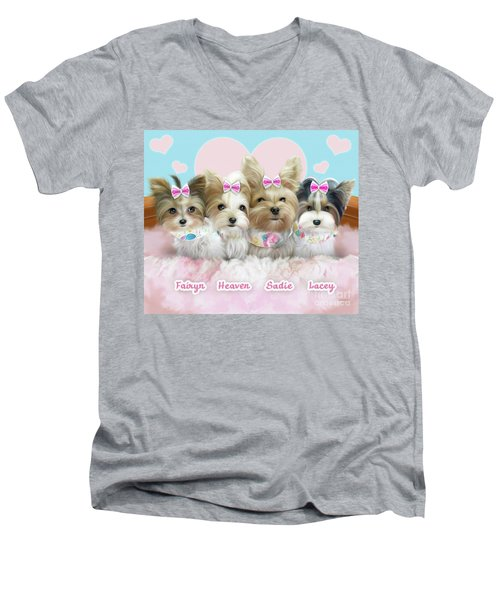 Davidson's Furbabies Men's V-Neck T-Shirt