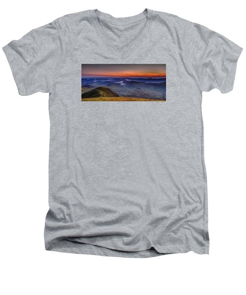 Dawn At The Merrick Summit Men's V-Neck T-Shirt