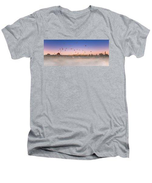 Dawn, Cappadocia Men's V-Neck T-Shirt