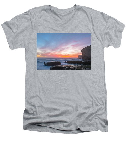Men's V-Neck T-Shirt featuring the photograph Dawn by Catherine Lau