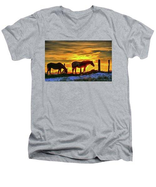 Dawn Horses Men's V-Neck T-Shirt
