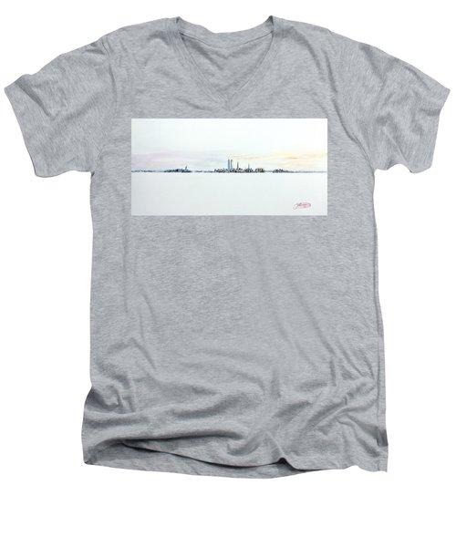 Dawn New York City Men's V-Neck T-Shirt