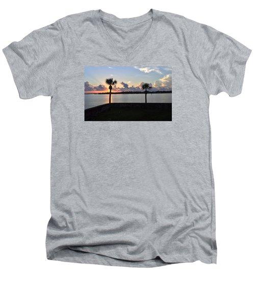 Celebrate 450 Landing Day Men's V-Neck T-Shirt