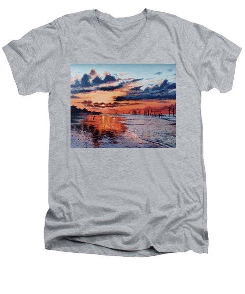 Dawn On Crystal Beach Men's V-Neck T-Shirt