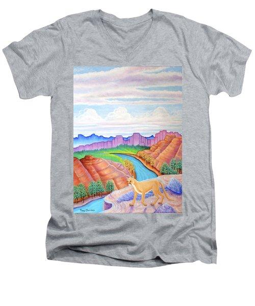 Dawn Patrol Men's V-Neck T-Shirt by Tracy Dennison