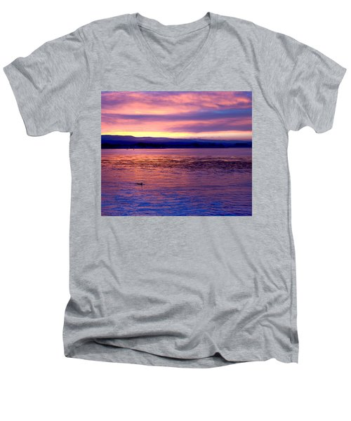 Dawn Patrol Men's V-Neck T-Shirt by Lora Lee Chapman