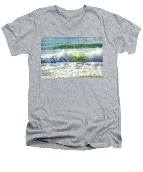 Dawn Wave Men's V-Neck T-Shirt by Francesa Miller