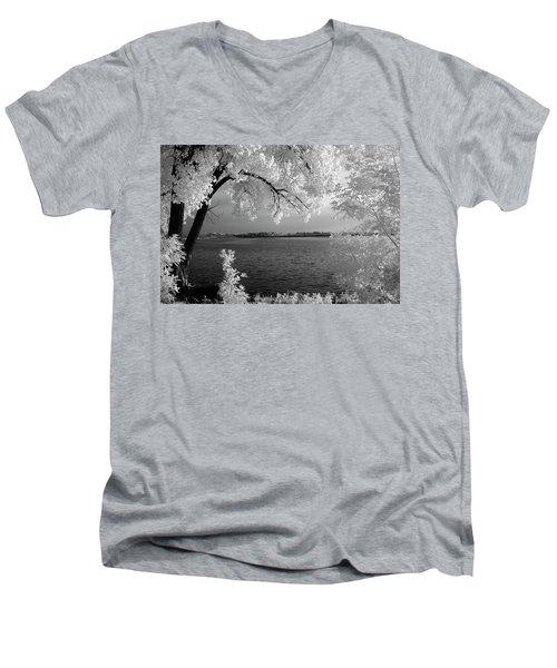 Day At The Lake Men's V-Neck T-Shirt
