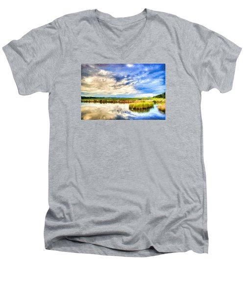 Day At The Marsh Men's V-Neck T-Shirt