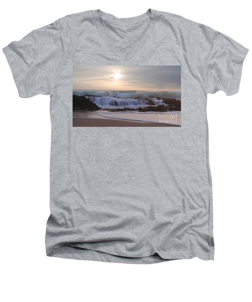 Day Break Paradise Men's V-Neck T-Shirt by Kym Clarke