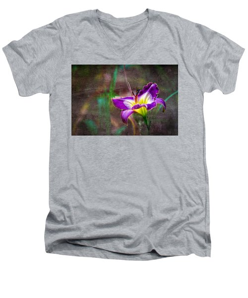 Day Of The Lily Men's V-Neck T-Shirt