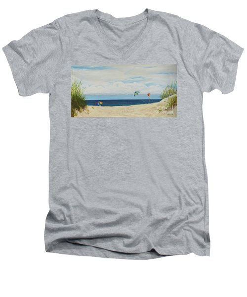 Day On Beach Men's V-Neck T-Shirt