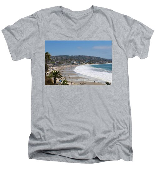 Day On The Beach Men's V-Neck T-Shirt