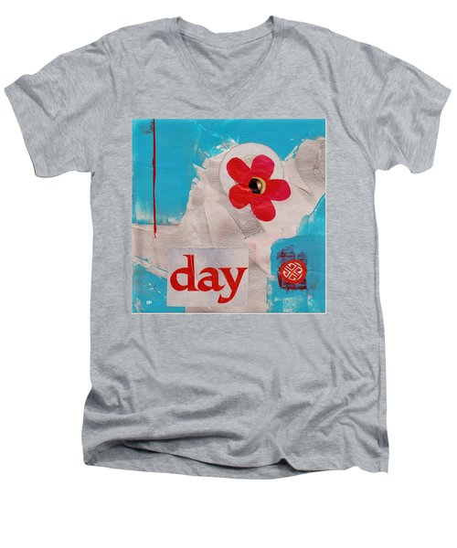 Day Men's V-Neck T-Shirt by Patricia Cleasby