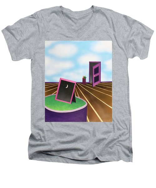 Day Men's V-Neck T-Shirt by Thomas Blood