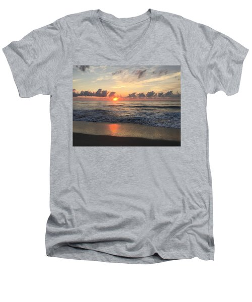 Daybreak At Cocoa Beach Men's V-Neck T-Shirt