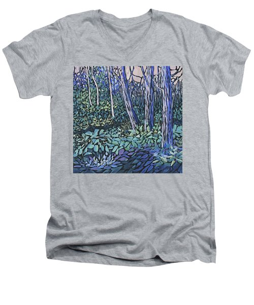 Men's V-Neck T-Shirt featuring the painting Daybreak by Joanne Smoley