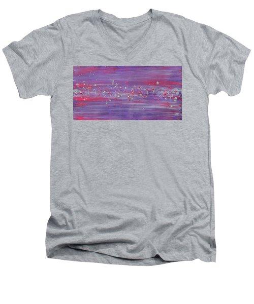 Daydream In Purple Men's V-Neck T-Shirt