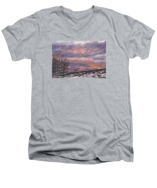 Daylight's Last Blush Men's V-Neck T-Shirt by Anne Gifford