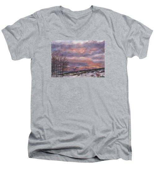 Daylight's Last Blush Men's V-Neck T-Shirt