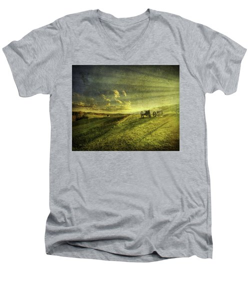 Men's V-Neck T-Shirt featuring the photograph Days Done by Mark T Allen