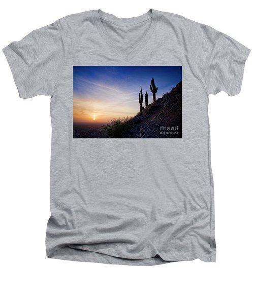 Days End In The Desert Men's V-Neck T-Shirt
