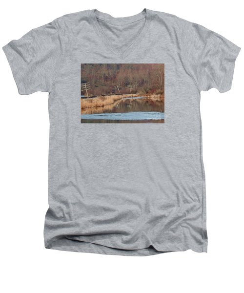 Men's V-Neck T-Shirt featuring the photograph Days Gone Bye by Christian Mattison