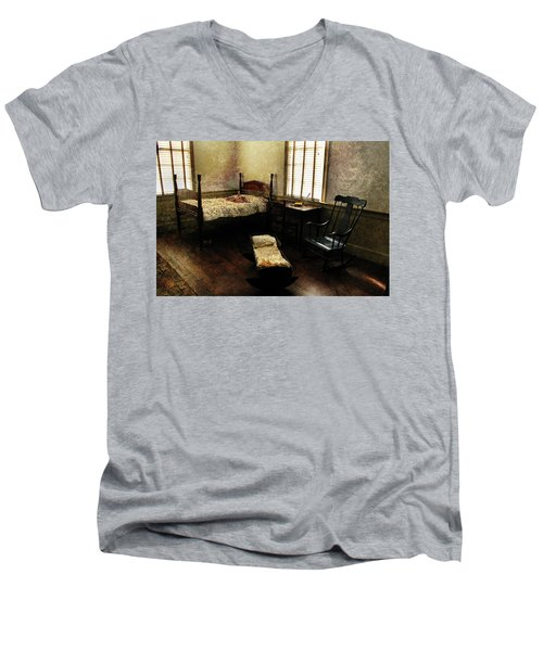 Men's V-Neck T-Shirt featuring the photograph Days Of Old by Jessica Brawley