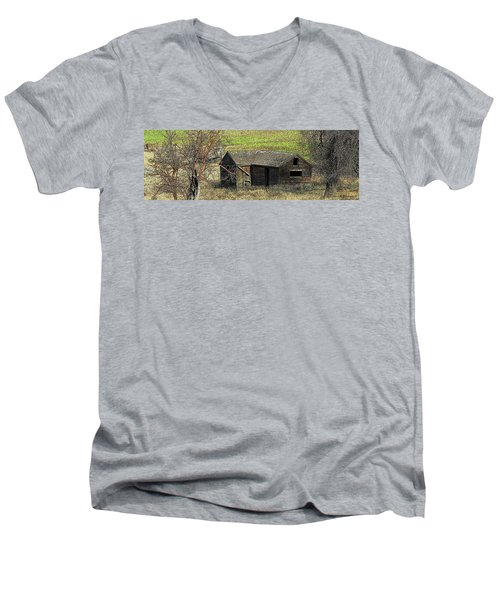 Days Of Old Men's V-Neck T-Shirt by Steve Warnstaff