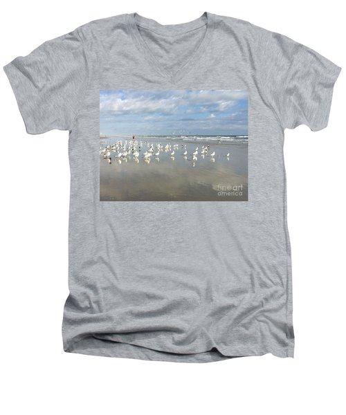 Daytona Beach 2 Men's V-Neck T-Shirt