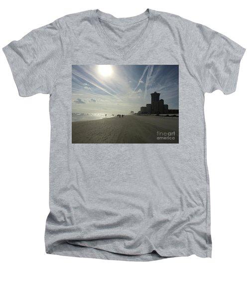 Daytona Beach Early Men's V-Neck T-Shirt