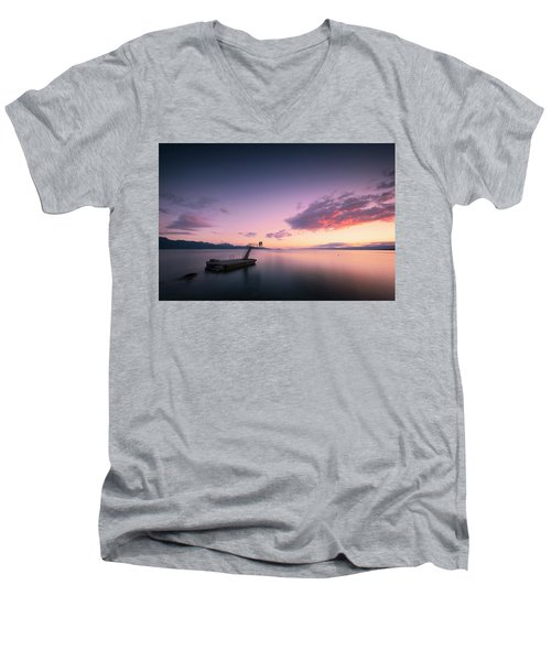 Dazzled By Happiness Men's V-Neck T-Shirt by Dominique Dubied