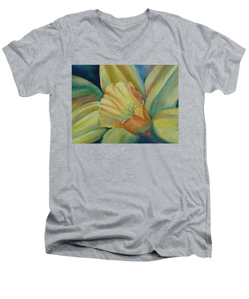 Dazzling Daffodil Men's V-Neck T-Shirt