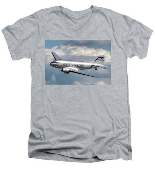 Dc-3 Men's V-Neck T-Shirt by Jeff Cook