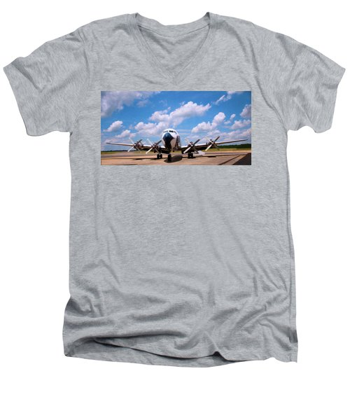 Men's V-Neck T-Shirt featuring the digital art Dc 7 by Chris Flees