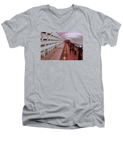 Dc Metro Men's V-Neck T-Shirt by James Kirkikis