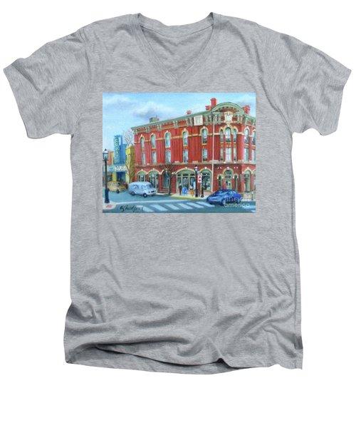 dDowntown Doylestown Men's V-Neck T-Shirt by Oz Freedgood