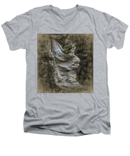 Men's V-Neck T-Shirt featuring the photograph Dead Leaf by Vladimir Kholostykh