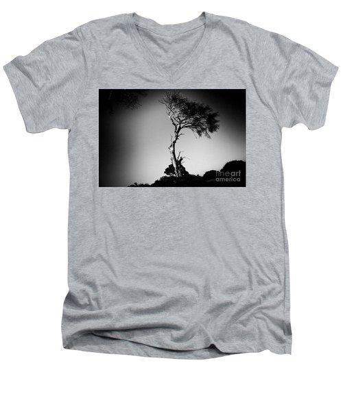 Dead Tree Bw Men's V-Neck T-Shirt