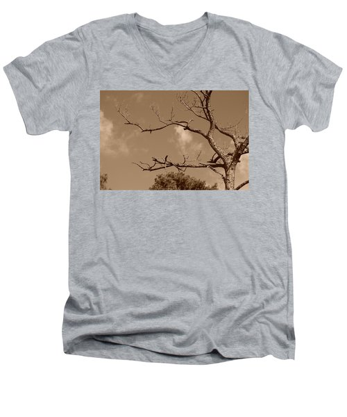 Men's V-Neck T-Shirt featuring the photograph Dead Wood by Rob Hans